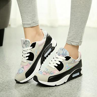 Buy Women's Shoes Platform Comfort Round Toe Fashion Sneakers Casual Black / Fuchsia
