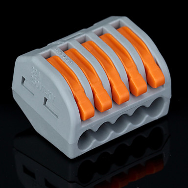 Buy 5 PCT-215 400V/4KV/32A Universal Connector 0.08-2.5mm² Single/0.08-4.0mm² Multi Wire 9-10mm Stripping Length