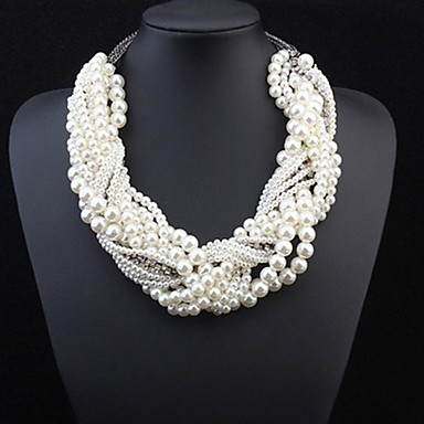 Jewelry Statement Necklaces Pearl Pearl / Alloy Women Gold Wedding Gifts