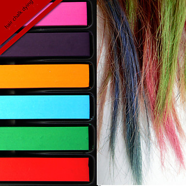 Buy Party Decoration Fashion Hot Fast Temporary Pastel Hair Dye Color Chalk 6 Colors/Set Women
