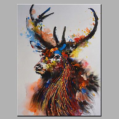 Peint la main animal horizontale moderne un panneau for Different type de peinture