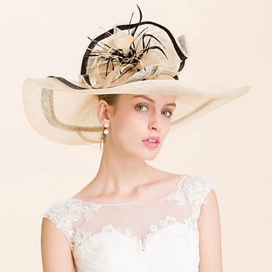 Buy Women's Flax Headpiece-Wedding / Special Occasion Hats 1 Piece Head circumference Adjustable(54-58cm)