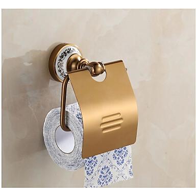 Porta rotolo di carta igienica / Bronzo antico / A ...