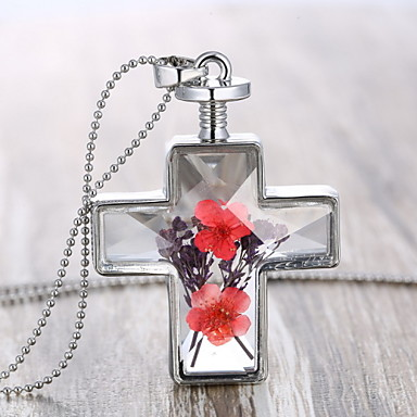 Buy Z&X® Fashion Popular Cross Flowers Necklace Pendant Necklaces / Party Alloy Daily 1pc