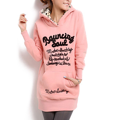 Women's Vintage Sexy Bodycon Casual Print Hoodies , Long Sleeve Cotton