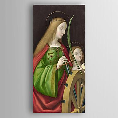 Handgeschilderde mensenklassiek e n paneel canvas hang geschilderd olieverfschilderij for - Hang een doek ...