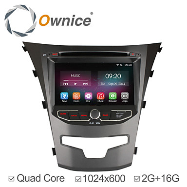Buy 7 inch 1024*600 In-Dash 2G RAM Car DVD Player Ssangyong Korando2014 2015 Quad Core Android 4.4.2 GPS Navigation