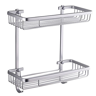 Buy Bathroom Shelf Aluminum Wall Mounted 370 x 313 140mm (14.6 12.3 5.5 inch) Contemporary
