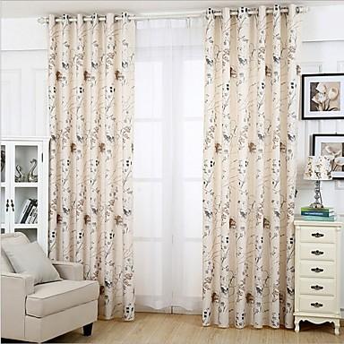 deux panneaux le traitement de fen tre moderne chambre coucher m lange lin coton mat riel. Black Bedroom Furniture Sets. Home Design Ideas