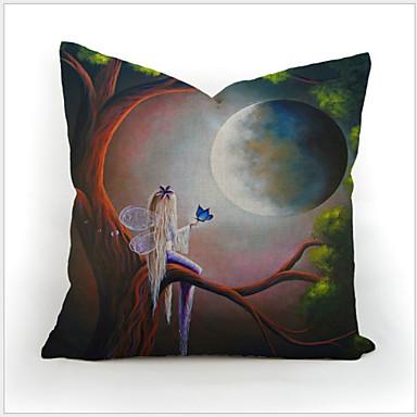 Cartoon Cute Kids Pillowcase Set Cotton Linen Comforter Bedding Throw Pillow Case Home 45X45cm ...