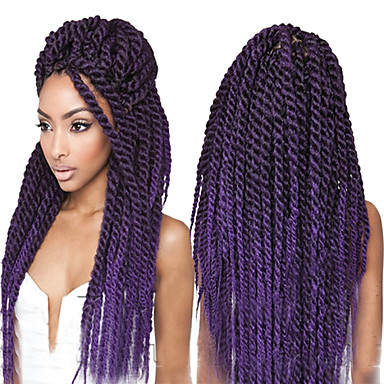 Crochet Box Braids Amazon : ... Synthetic Hair Purple Havana Jumbo Twist Braids Synthetic Twist