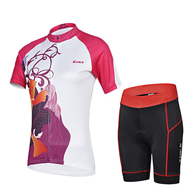 Buy CHEJI Summer Women's Breathable Quick Dry Short Sleeve Bicycle Cycling Jersey 3D Pad Pant