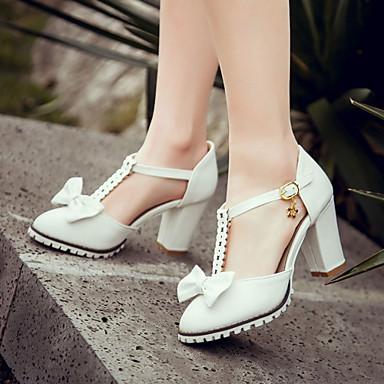 Buy Women's Shoes Heel Heels / Round Toe Sandals Outdoor Dress Casual Pink Purple White Beige/F-13