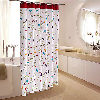 Thick Waterproof Polyester Fabric Shower Curtain Orchid Flower 180x200cm 4889398 2017