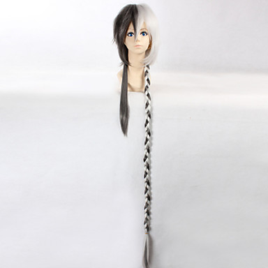 Buy Cosplay Wigs Vocaloid Black / Gray Long Anime 110 CM Heat Resistant Fiber Male Female