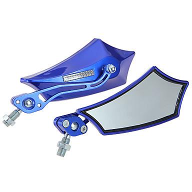 Buy 2Xmotorrad Side Mirror Motorradspiegel Lenkerspiegel 10Mm 8Mm Blue