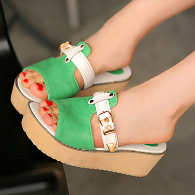 Women's Shoes Wedges / Heels / Peep Toe / Platform Sandals / Heels / Clogs & Mules Outdoor / Dress / CasualBlue /F13