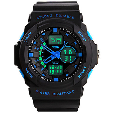 Men's Unisex Sport Watch Fashion Watch Wrist watch LED Water Resistant / Water Proof Digital Silicone Band Black