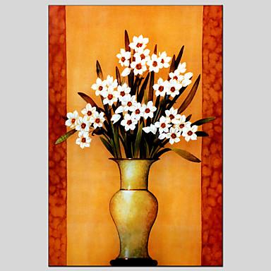 mat riel de toile peintures l 39 huile de style de fleurs avec cadre tir pr t accrocher la. Black Bedroom Furniture Sets. Home Design Ideas