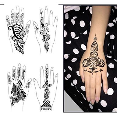 1pcs del tatuaje plantillas plantillas manos pies de for Henna para manos