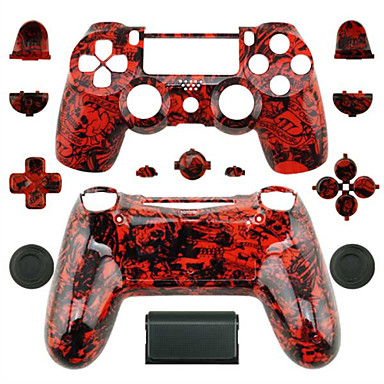 Replacement controller case for ps4 controller red ghost for Housse manette ps4
