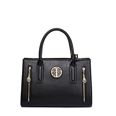 Buy NAWO Women Cowhide Tote Black-N153161