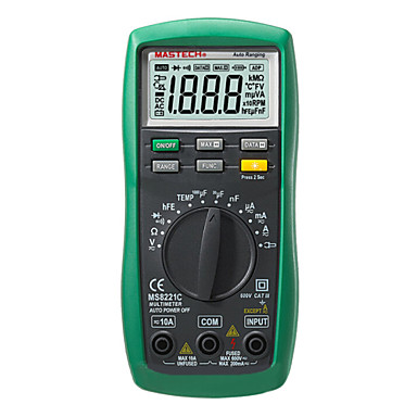 Buy MASTECH MS8221C 2M(Ω) 600(V) 10(A) Professinal Digital Multimeters