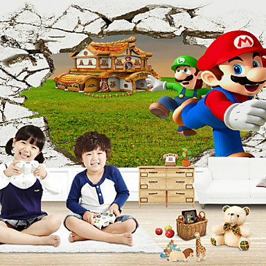 Buy JAMMORY Cartoon / People Fantasy 3D Wall Stickers Stickers,Canvas Animation Large Mural S M L XL XXL 3XL