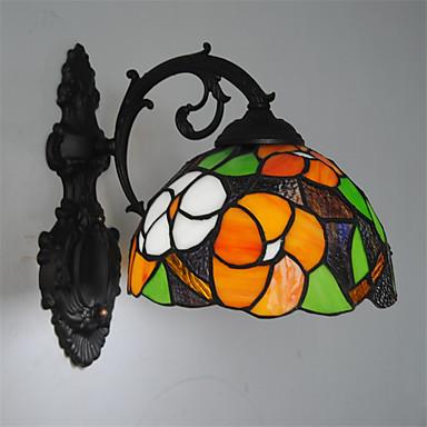 Stile Mini Lampade a candela da parete,Stile Tiffany E26/E27 Metallo del 4980...