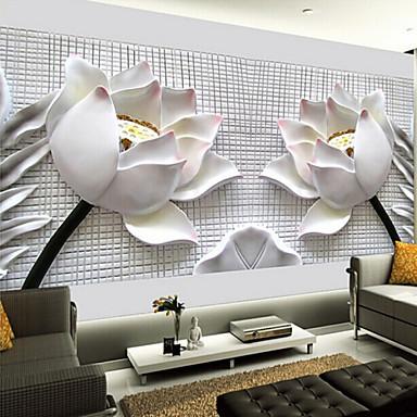 Shinny o efeito de couro grande mural de parede decora o for 3d wallpaper for living room malaysia