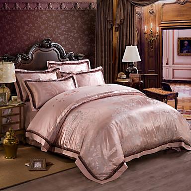 New Bedding Luxury Silk Cotton Blend Duvet Cover Sets
