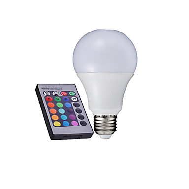 Buy E27 3W 6000K High Power LED 280-320LM RGB Remote-Controlled Globe Bulbs AC 85-265V