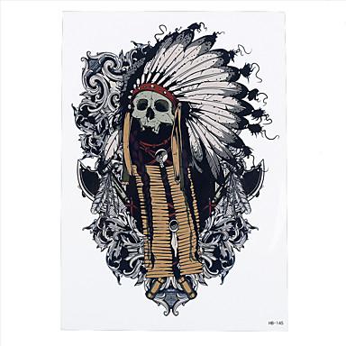 8pcs fleur noire motif de cr ne indien style tatouage d calcomanie design femmes temporaires art - Tatouage crane indien ...