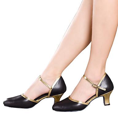 Women S Dance Shoes Latin Cuban Heel Black