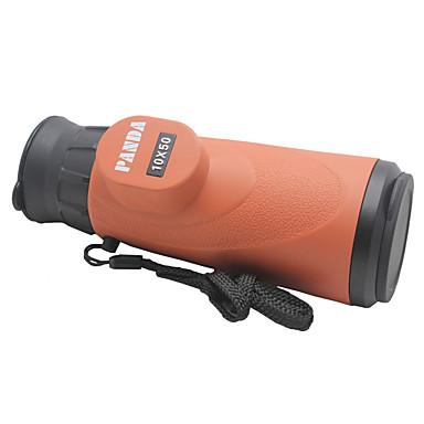Buy Panda 10X 50mm Waterproof Monocular Telescope High Resolution Large Eyepiece - Orange + Black