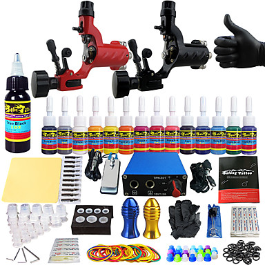 Solong tattoo beginner tattoo kit 2 pro machines power for Best tattoo starter kit
