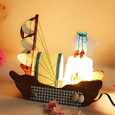 Botellas de deriva del barco de vela de la vendimia luz de - Lampara de noche ...