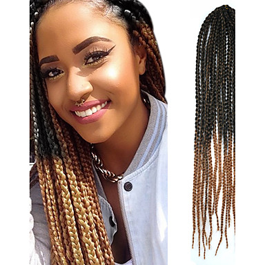 Crochet Box Braids Ombre : Black Ombre Light Brown Senegal Crochet Twist Small Box Braid 24 ...