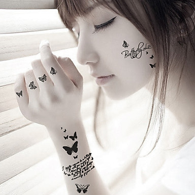 Buy Fashion Butterfly Body Art Waterproof Temporary Tattoos Sexy Tattoo Stickers (Size: 3.74'' 5.71'')