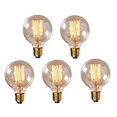 5pcs g95 e27 40w vintage edison bulb retro lamp incandescent light bulb 220 240v 5112089 2016. Black Bedroom Furniture Sets. Home Design Ideas