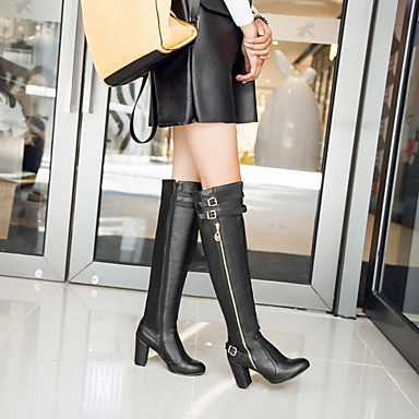 Buy Women's Shoes Winter Fashion Boots Office & Career / Casual Chunky Heel BuckleBlack Brown /9-16