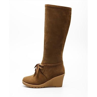 s boots fall winter wedges platform