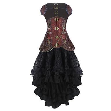 burvogue women's gothic leather steel boned steampunk