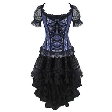 shaperdiva women's retro lace bustier steampunk skirts