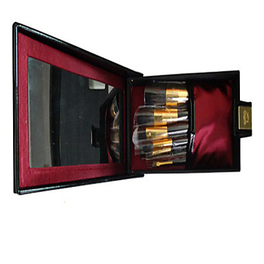 Buy 9 Makeup Brushes Set Goat Hair Professional / Full Coverage Portable Wood Face Eye Lip