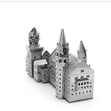 Buy Jigsaw Puzzles 3D Building Blocks DIY Toys Castle 1 Metal Silver Game Toy