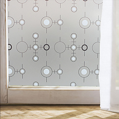 Window film window decals style black and white circle for 100 cm window box