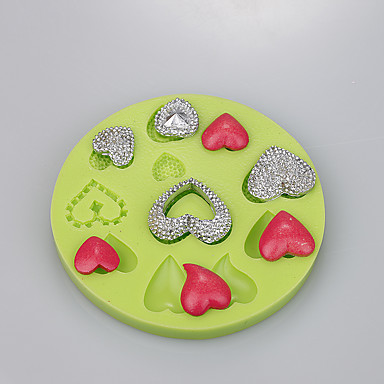 Love Shape Cake Decoration : New product chocolate mold love heart shape for fondant ...