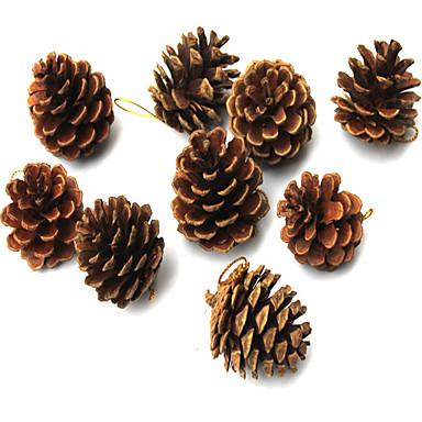 9 pc del rbol de navidad para colgar el color natural de - Arbol de pina ...