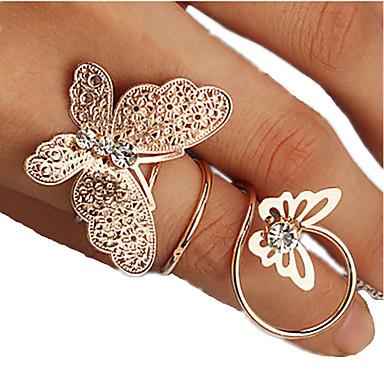 Midi Rings Rhinestone Alloy Fashion Golden Jewelry Party Daily 1pc